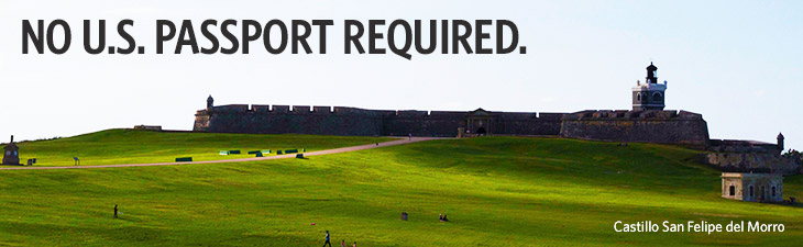 no u.s. passport required. - location, castillo san felipe del morro