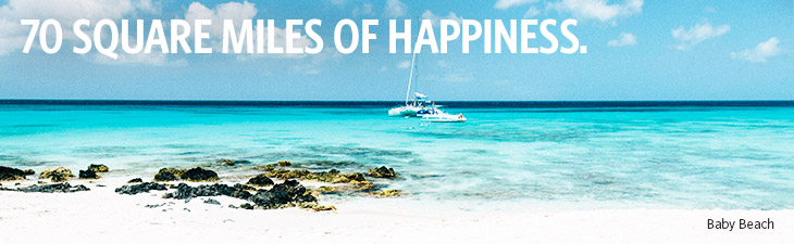 70 square miles of happiness - location, baby beach, aruba