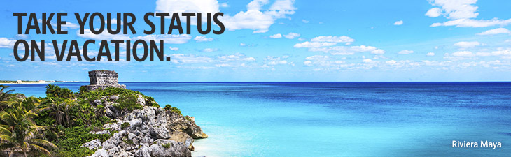 take your status on vacation - location, riviera maya, mexico