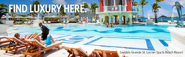 find luxury here - location, Sandals Grande, St. Lucian