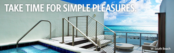 TAKE TIME FOR SIMPLE PLEASURES. - location, W South Beach