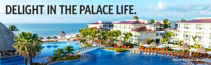 delight in the palace life - location, moon palace cancun
