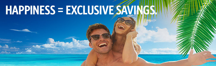 HAPPINESS = EXCLUSIVE SAVINGS. - location, los cabos, mexico)