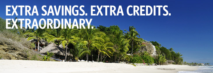 EXTRA SAVINGS. EXTRA CREDIT. EXTRAORDINARY.