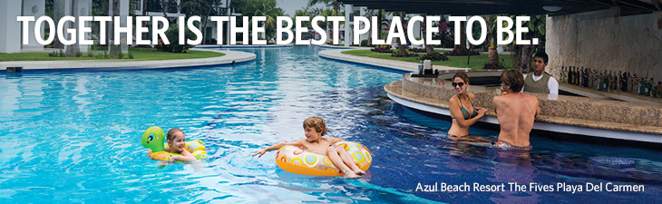 Together is the best palce to be. _ Azul Beach Resort The Fives Playa Del Carmen